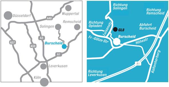 Anfahrtsbeschreibung: Karte